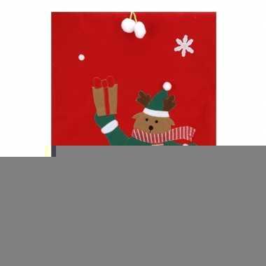 Cadeauzak rendier rood 97 cm