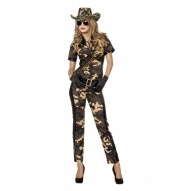 Camouflage bodysuit met riem