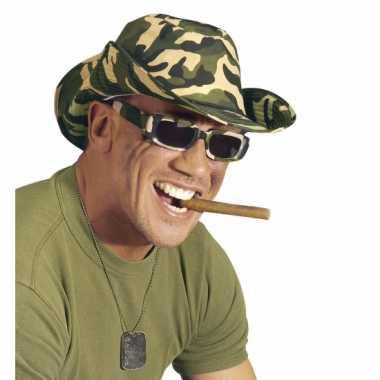 Camouflage feestbrillen rechthoekig