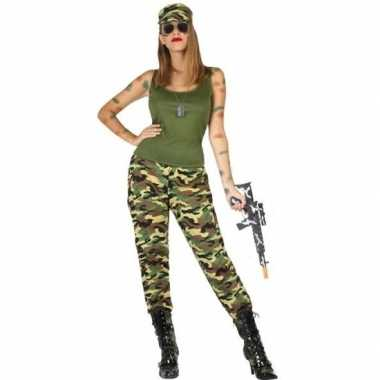 Camouflage soldaat verkleed pak/kostuum voor dames
