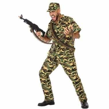 Camouflage soldaat verkleed pak/kostuum voor heren