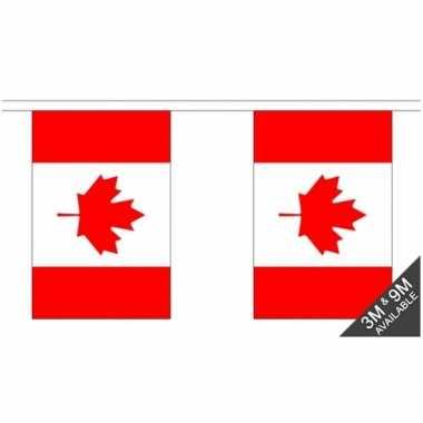 Canada vlaggenlijn van stof 3 m