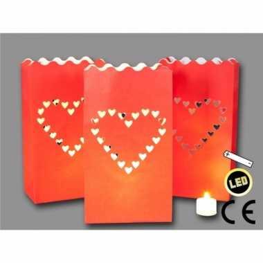 Candle bags love 3 stuks + led