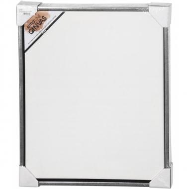 Canvas schildersdoek met zilver lijst 50 x 60 cm