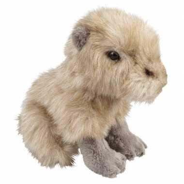 Capibaras speelgoed artikelen waterzwijn knuffelbeest beige 18 cm