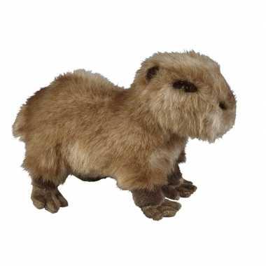 Capibaras speelgoed artikelen waterzwijn knuffelbeest bruin 28 cm