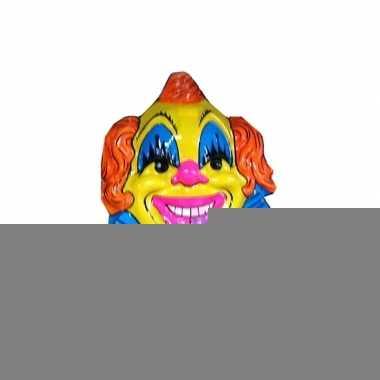 Carnaval clown versiering geel/blauw