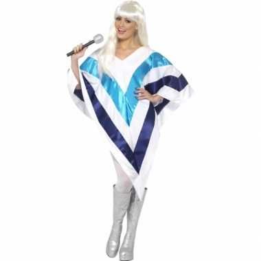 Carnaval disco poncho abba voor dames