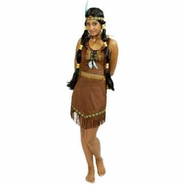 Carnaval kostuum indiaan jurkje voor dames