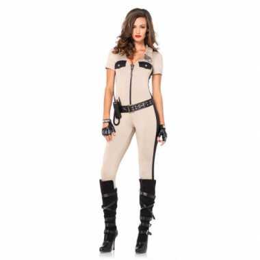 Carnaval politie catsuit met accessoires