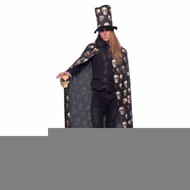 Carnaval verkleed cape schedels