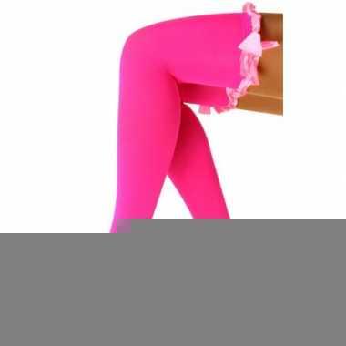 Carnavalskleding fluor roze dames