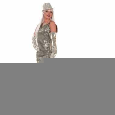 Carnavalskleding glitter jurkjes zilver