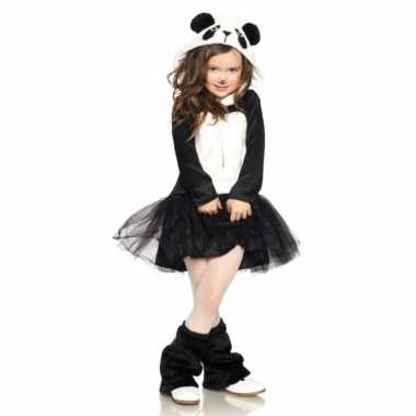 Carnavalskleding panda jurkje voor meisjes