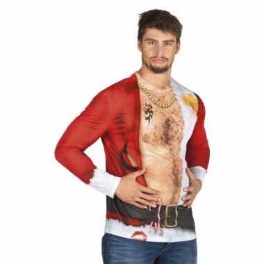 Carnavalskostuum kerstman heren shirt