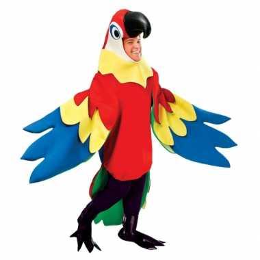 Carnavalskostuum papegaai