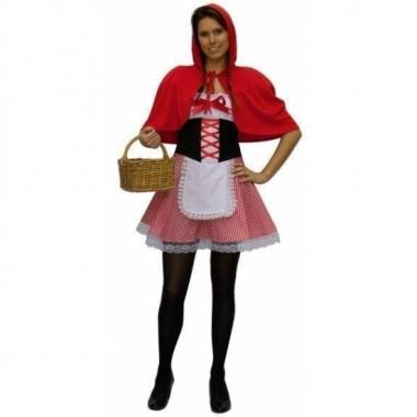 Carnavalskostuum roodkapje voor dames