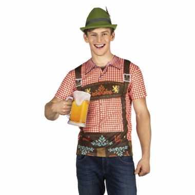 Carnavalskostuum tiroler heren shirt
