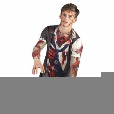 Carnavalskostuum zombie man shirt