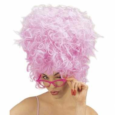 Carnavalspruik roze suikerspin voor dames