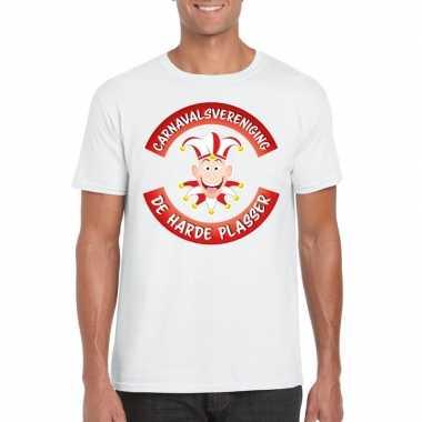 Carnavalsvereniging de harde plasser brabant heren t-shirt wit