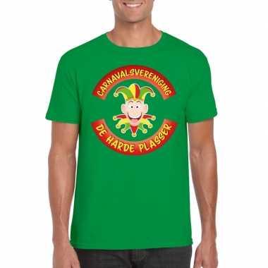 Carnavalsvereniging de harde plasser limburg heren t-shirt groen