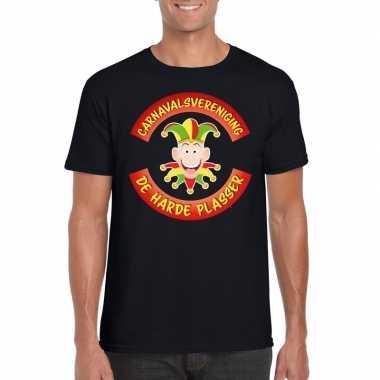 Carnavalsvereniging de harde plasser limburg heren t-shirt zwart