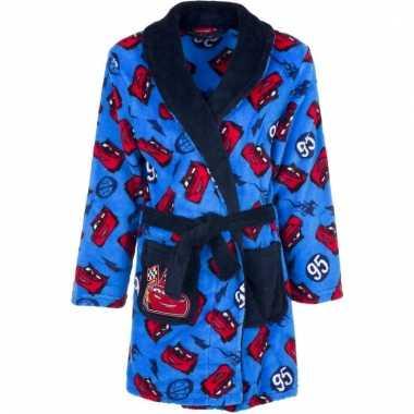 Cars fleece badjas blauw voor jongens