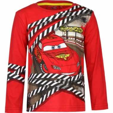 Cars lightning mcqueen t-shirt rood