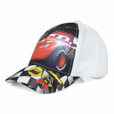 Cars pet/cap wit voor kinderen
