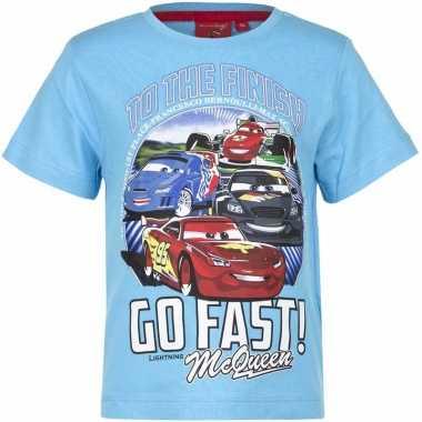 Cars t-shirt lichtblauw voor jongens