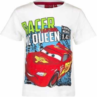 Cars t-shirt wit voor jongens