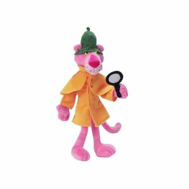 Cartoon knuffel detective pink panther
