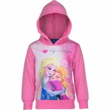 Cartoon sweater frozen roze