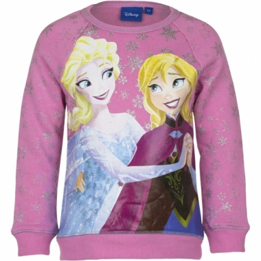 Cartoon trui frozen roze