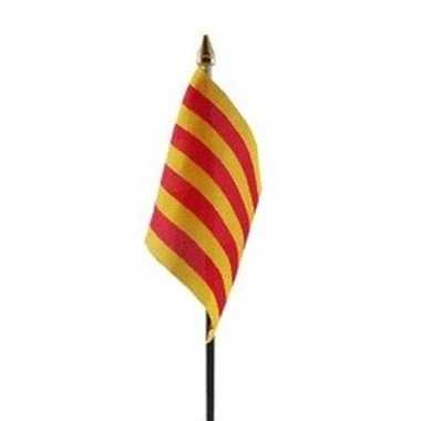 Catalonie vlaggetje met stokje
