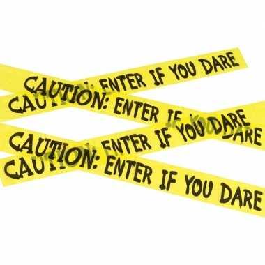 Caution decoratielint geel 6 meter
