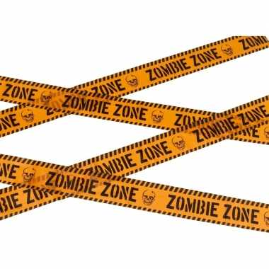 Caution decoratielint oranje 6 meter