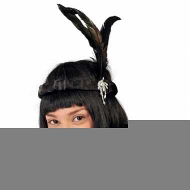 Charleston haarband met zwarte veertjes