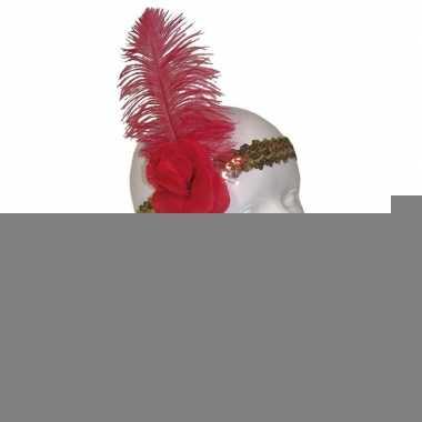 Charleston hoofdbanden goud/rood