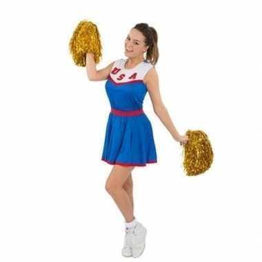 Cheerleaders kostuum met pom poms voor dames
