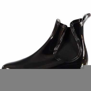 Chelsea boots regenlaarsjes zwart voor dames