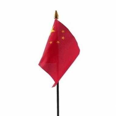 China vlaggetje met stokje