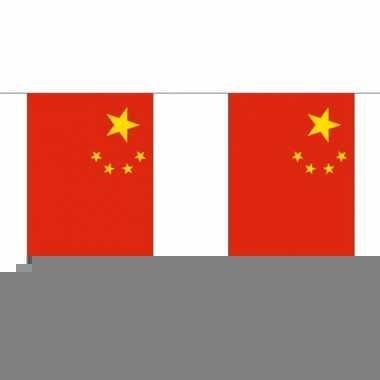Chineze vlaggenlijn van stof 3 m