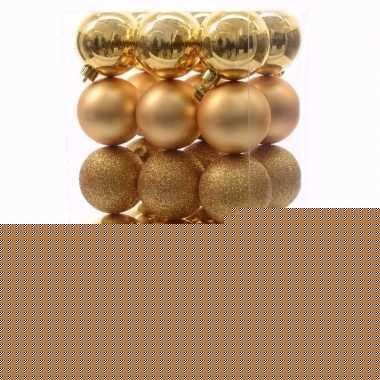 Chique christmas kerstboom decoratie kerstballen goud 30 x