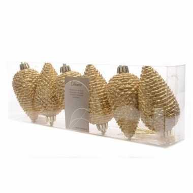 Christmas gold glitter gouden dennenappel hangdecoratie
