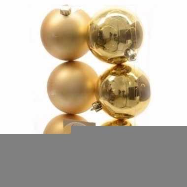 Christmas gold kerstboom decoratie kerstballen goud 6 x