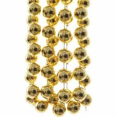 Christmas gold kerstversiering sterren grove kralen ketting goud 270