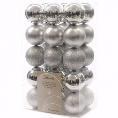 Christmas silver kerstboom decoratie kerstballen zilver 30 x