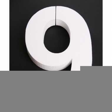 Cijfer negen van piepschuim 25 cm
